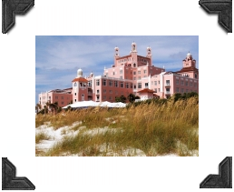 don ce sar hotel called the pink castle on st petersburg beach fl